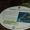 100 Acre reserve sign, Norfolk Island