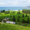 View over Kingston and golf course, Norfolk Island