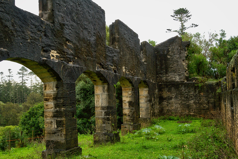 The Arches, old stables ruins, Norfolk Island