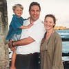 Dr Jeffrey Ayton, wife Jenny and son whom me met on the island