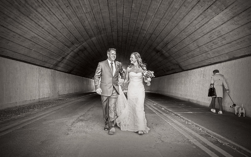 bride-groom-contemporary-underpass-walking