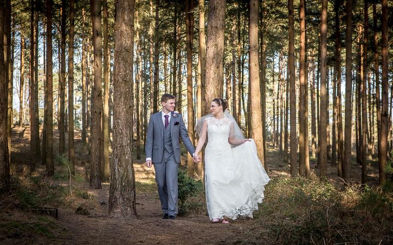 bride-groom-romantic-walk-woodland-new-forest