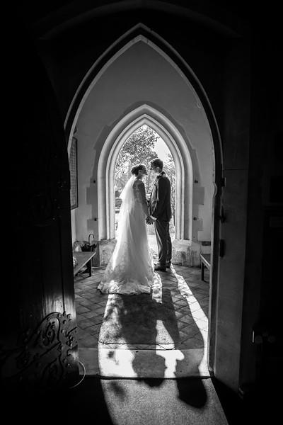 bride-groom-church-door-romantic
