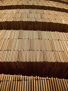 Wall of Wood. Oslo Opera House. ********** Trevegg. Operahuset i Oslo. (Foto: Geir)