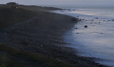 Utsikt over stranda og havet. A view of the beach and the North Sea. (Foto: Geir)