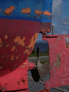 Blått og rødt under oppussing  (Foto: Ståle)