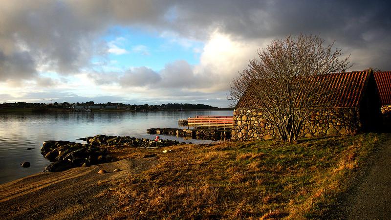 Båtnaust ved Hafrsfjord