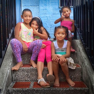 Four Young Girls in Comuna 13