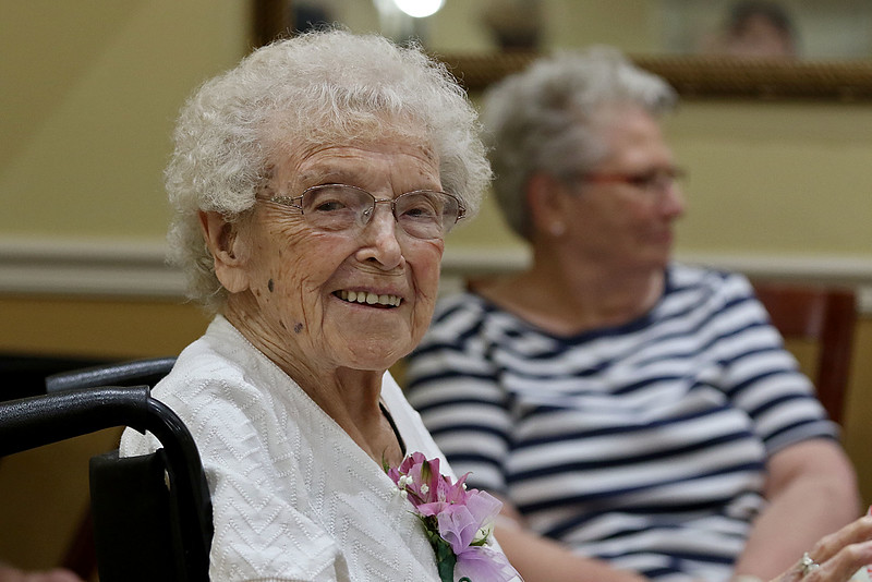 Norma Schofield had her 106 birthday on Tuesday, September 12, 2018 at Manor On the Hill in Leominster where she now lives. SENTINEL & ENTERPRISE/JOHN LOVE