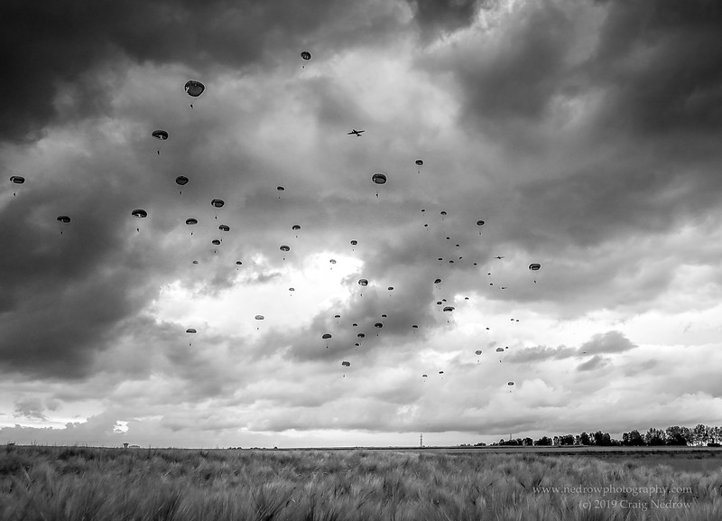 75th Anniversary of D-Day: Mass Para Jump at Sannerville (Drop Zone K)