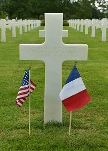 American Cemetery at Colleville Sur Mur.  Grave of Carl H. Becherer
