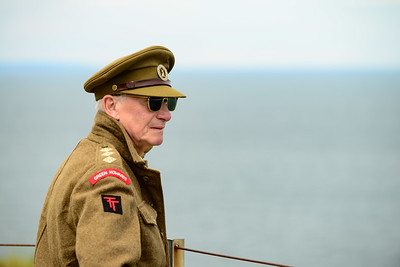 Reenactor at Pointe du Hoc
