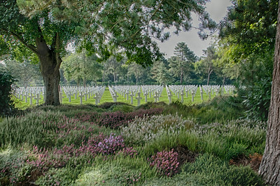 American cemetery, Normandy, HDR