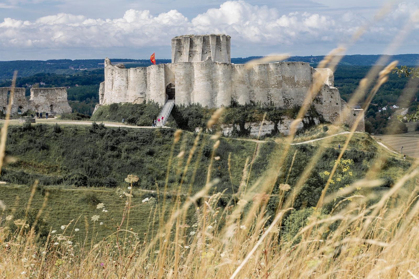 Imposing Chateau Gaillard in Les Andelys, Nomandy