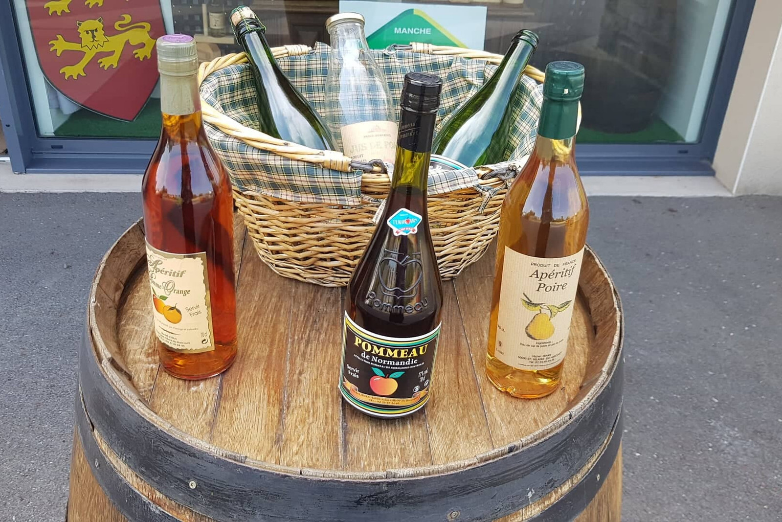 Apple and pear cider in Normandy, France