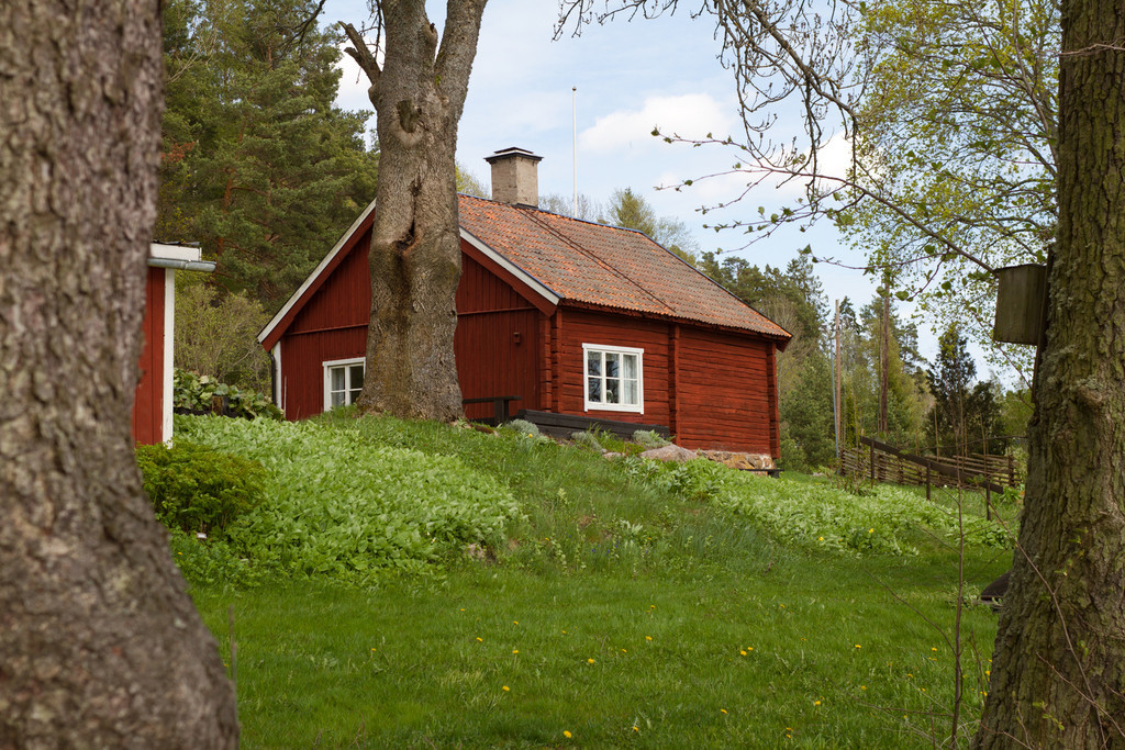 Sjöstugan, Frötuna hembygdsgård,<br /> vid Frötuna kyrksjö, Norrtälje