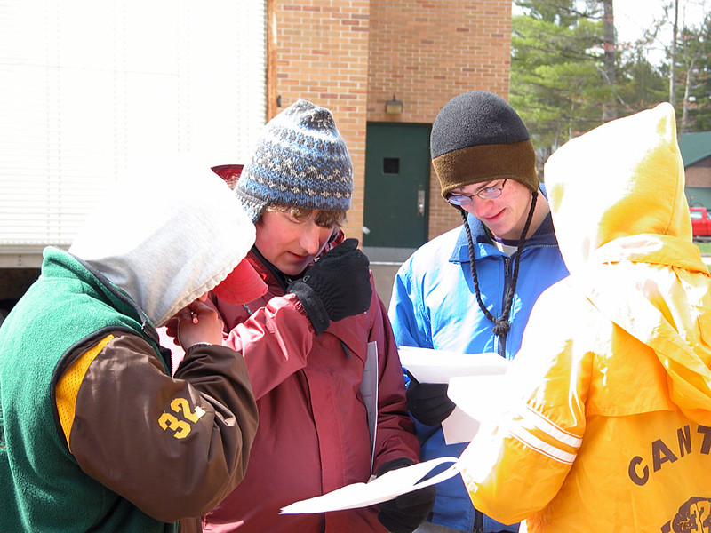 Participants at the Current Issue Test station