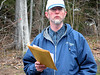 Ted Trevail, NRCS, at the Soils Test station