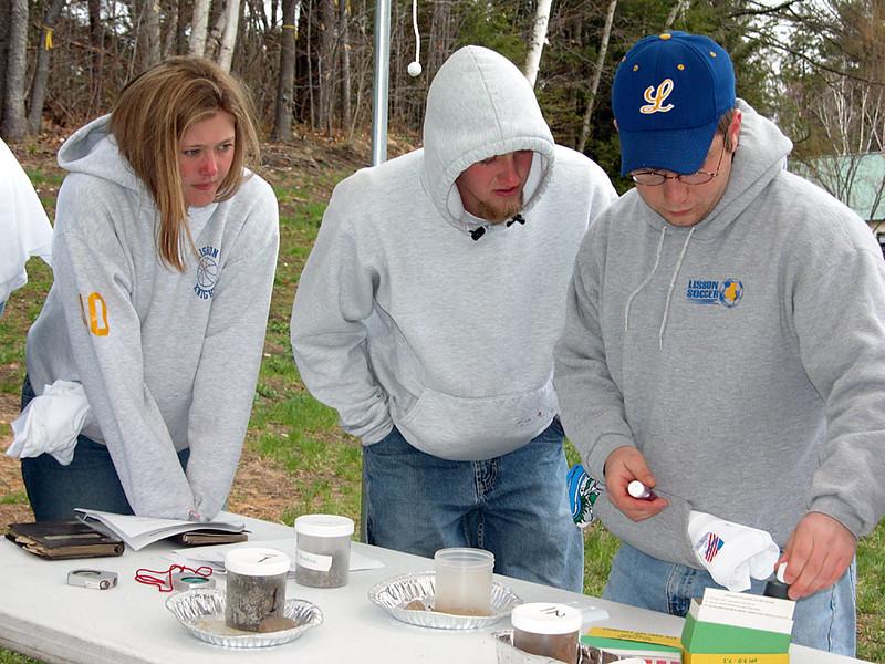 Participants at the Soils Test station