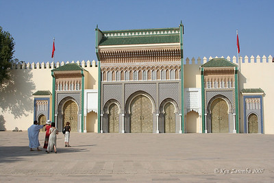 Main gate of King's Palace in Fez.