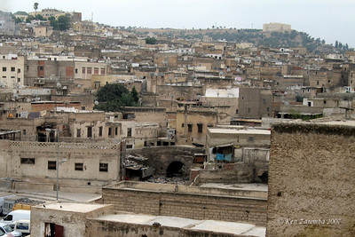 From the tannery rooftop, looking into the roofs of the Medina homes which are upper stories of the shops