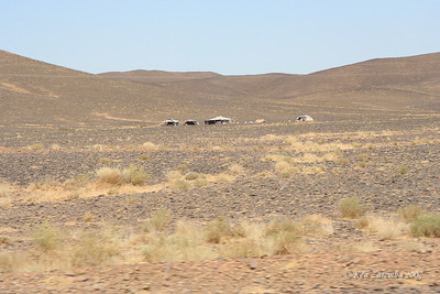 Berber tent encampments in the middle of nowhere