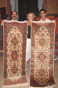 "The rug wasn't the only thing ""hooked""!  We bought 2 silk runners for our bedroom"