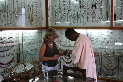 """A very special jewely store within the Marrakesh Medina - buying gifts for Susan's """"girls"""""""