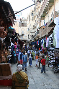 Along a street in the Mellah - Jewish section of Fez near the palace