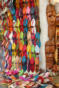 The Moroccan slipper shoe. This is  the most popular foot wear in all of Morocco - everyone wears them