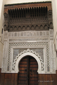 The main entrance to a 9 th century Mosque - completely renovated