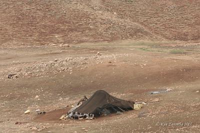A Berber shepherd's encampment on very desolate land