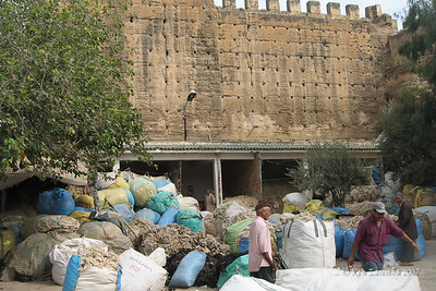 `The wool market, just as it has been for centuries, in the Medina of Fez