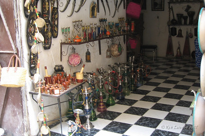 Hooka, or Narguila, shop in the Fez medina