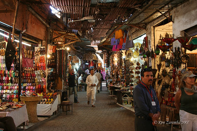 Everything imagineable is for sale at the Marrakech medina