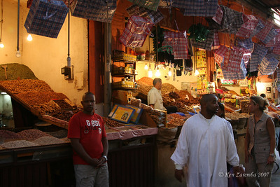 Dates, nuts and spices galore at the marrakech medina