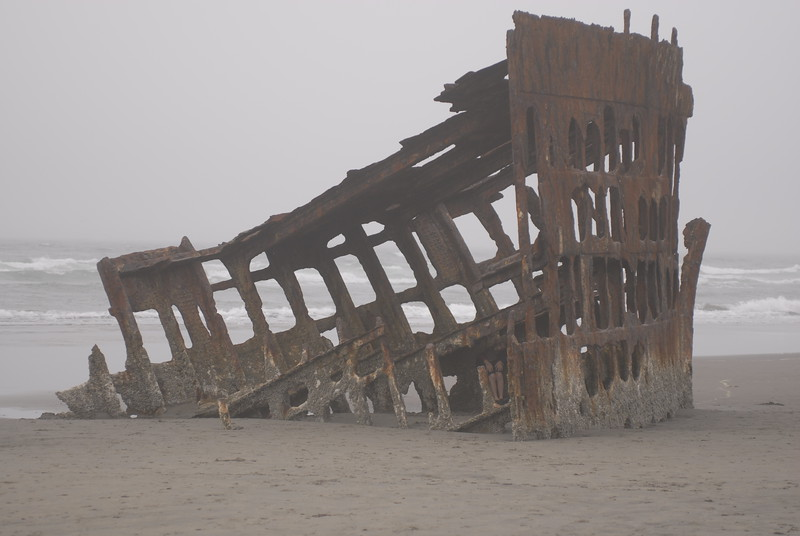 This ship called the Peter Iredale that wrecked in Ft. Stevens is a fort that started just after Confederates surrendered.