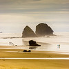 Cannon Beach people enjoying great the outdoors of Oregon