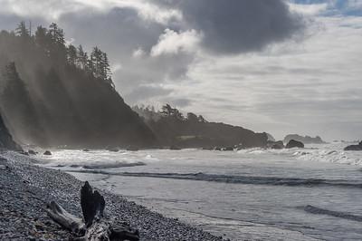 Morning-Mist Oregon coastline