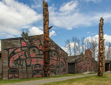 Totem poles  in Ksan Village photo