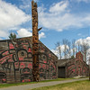 Totem poles  in Ksan Village photo