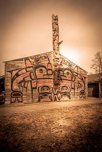 'Ksan Historical Village and Museum in Hazelton. photo