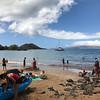 Enjoying the warm waters in Maui