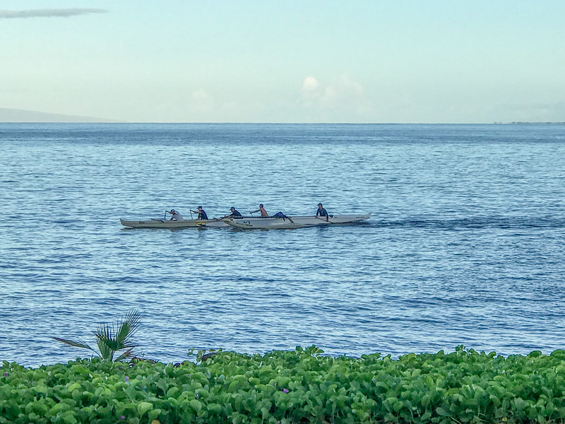 Boaters along Maui