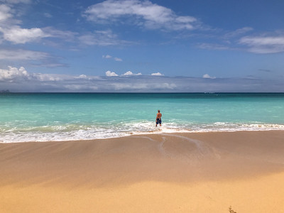 Beautifull sandy beach in Maui.