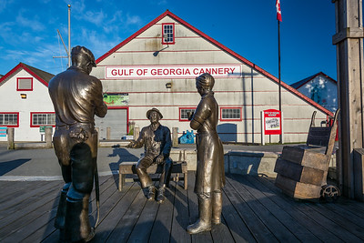 Bronze Statue in Steveston