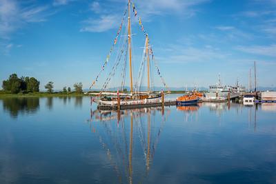 Navy training sail boat