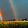 Double Rainbow in Farm Field