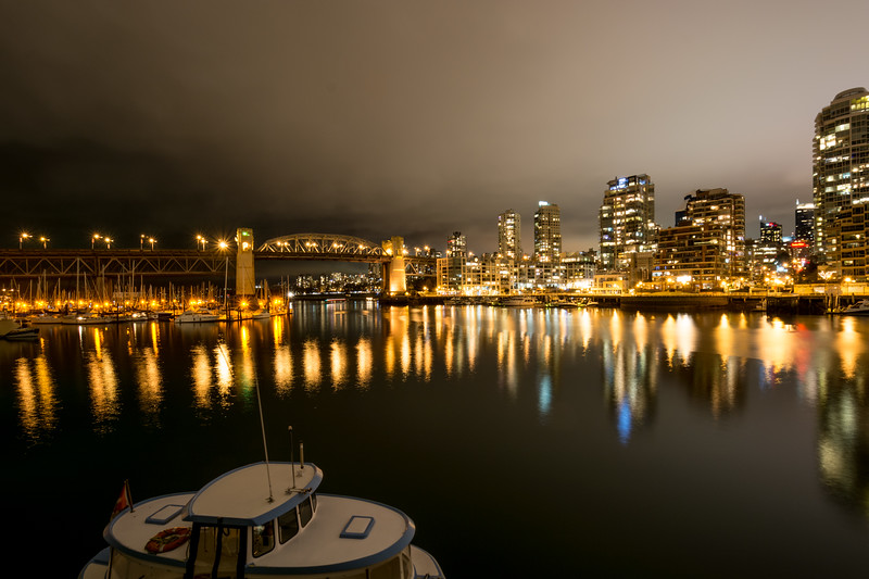 Night Photo of Vancouver  Harbour