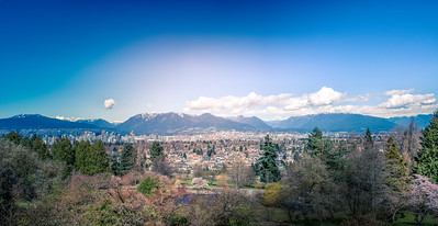Vancouver Mountains from Queen Elizabeth Park.